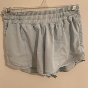 Powder Blue LuluLemon Hotty Hot Shorts